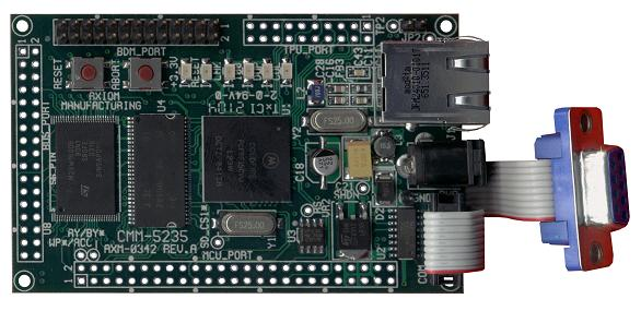 The Motorola Coldfire port features a Freescale MCF5235 processors with 2Mb Flash and 16Mb SDRAM.