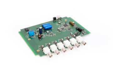 6-channel audio analyzer with real-time signal processing